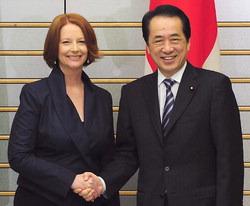 豪ギラード首相☆原発必要ない ・管首相 再生可能エネルギー強化 G8 ...